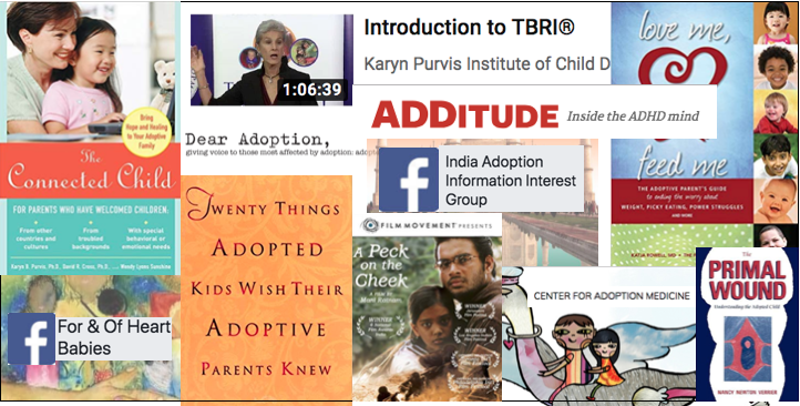 adoption-related reference books and media